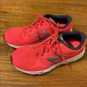 New Balance pink speed ride shoes 8